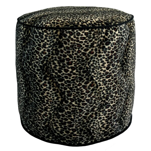 Cheetah Upholstered Pouf by R&MIndustries
