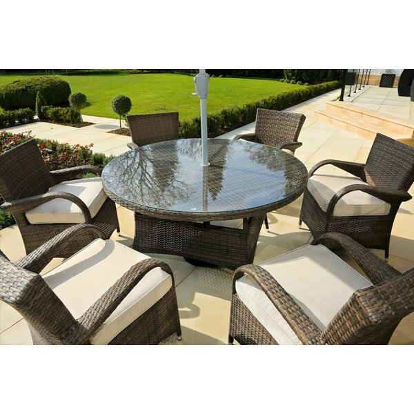 Fager 7 Piece Outdoor Dining Set with Cushions by Red Barrel Studio