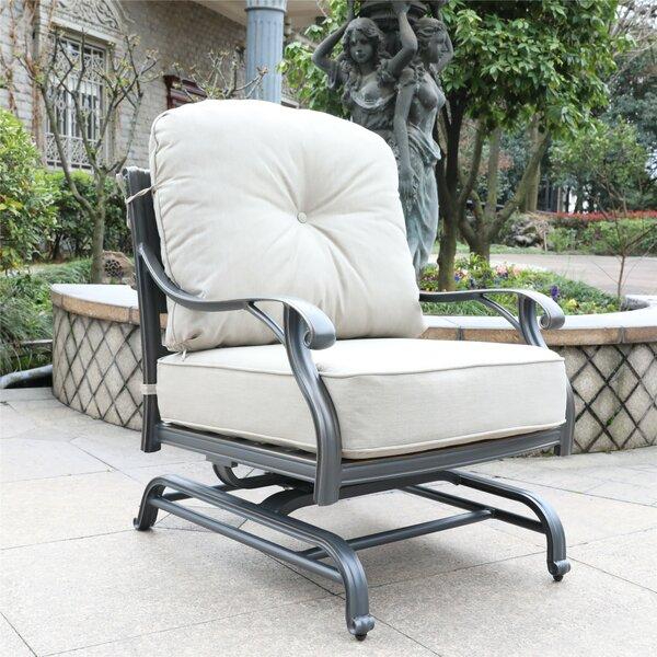 Waddington Patio Chair with Sunbrella Cushions (Set of 2) by Fleur De Lis Living
