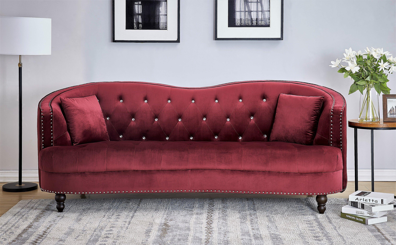 House Of Hampton Tori Curved Sofa Wayfair