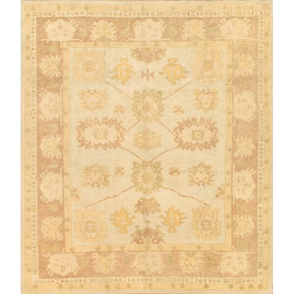 Oushak Hand-Knotted Beige Area Rug by Pasargad