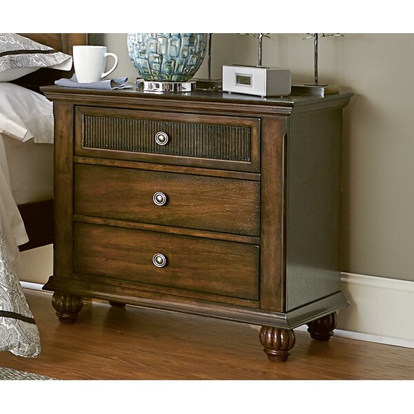 Langham 3 Drawer Nightstand by Bay Isle Home