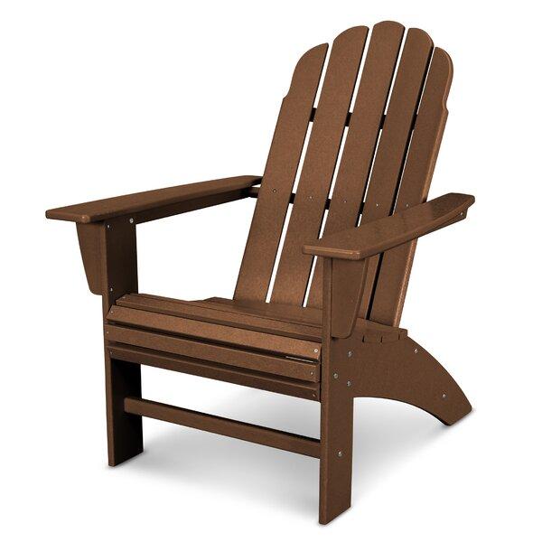 Vineyard Curveback Resin Adirondack Chair By POLYWOOD®