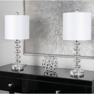 Crystal table lamps youll love wayfair mcmillin crystal 23 table lamp set of 2 aloadofball Choice Image