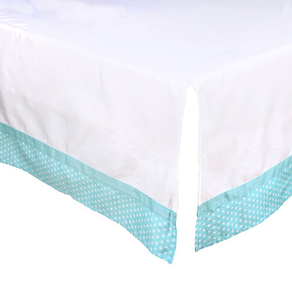Dot Tailored Crib Dust Ruffle by The Peanut Shell
