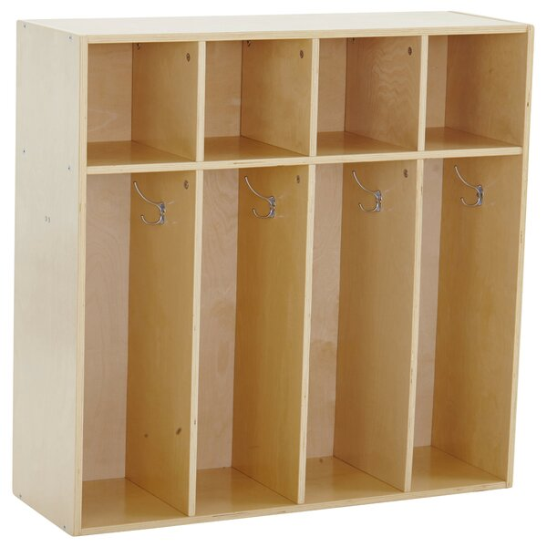 Birch Streamline 4 Section Coat Locker by ECR4kids