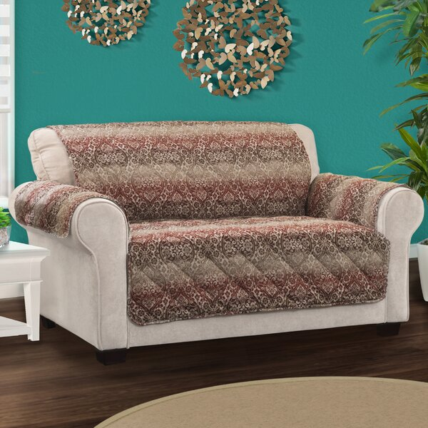 Protector Box Cushion Loveseat Slipcover by Bloomsbury Market