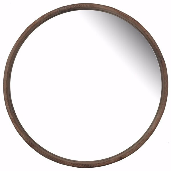 Broughton Wooden Round Accent Mirror by Foundry Select