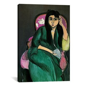 'Laurette in Green in a Pink Chair' by Henri Matisse Painting Print on Canvas by iCanvas