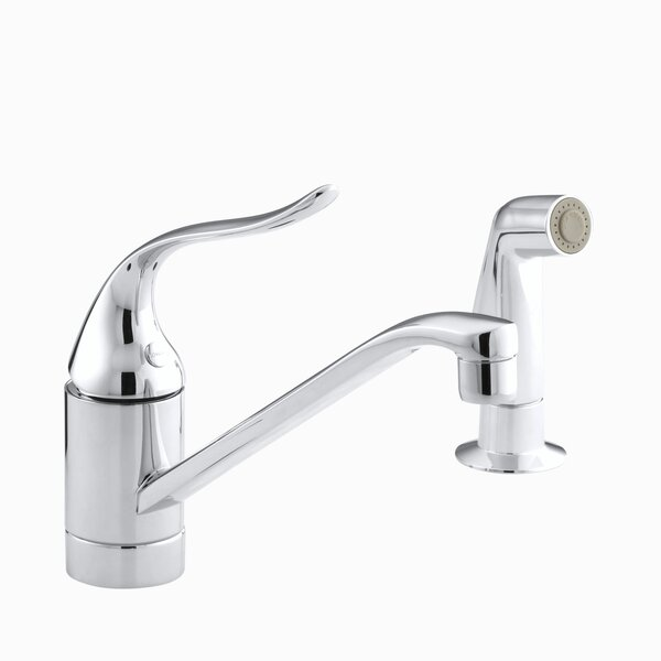 Coralais Single Handle Single Hole Kitchen Sink Faucet with Lever Handle and Side Spray by Kohler