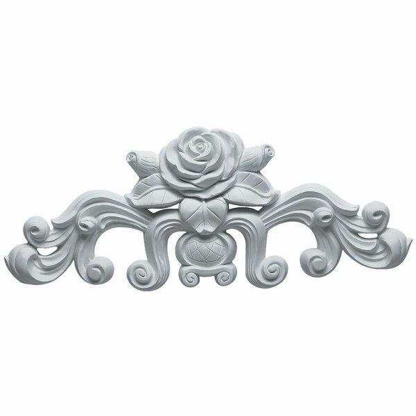Nadia 5 1/2H x 13 3/4W x 1D Decorative Rose Onlay Center by Ekena Millwork