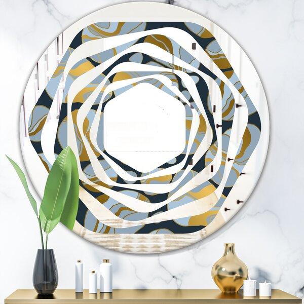 Leaves Geometric Mod Dots Modern Wall Mirror