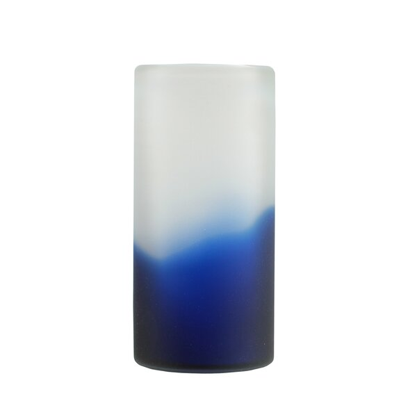 Northlight Cylindrical Hand Blown Frosted Glass Vase Wayfair