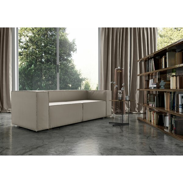 Best Price Dominick Genuine Leather Sofa Bed
