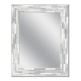 Bracamonte Reeded Mosaic Frameless Bathroom / Vanity Mirror by Mercer41