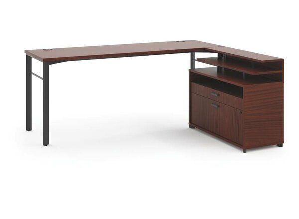 Manage L-Shape Executive Desk by HON