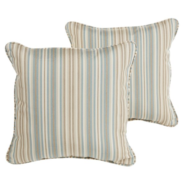 Livia Greystone Sunbrella Indoor/ Outdoor Throw Pillows (Set of 2) by Longshore Tides
