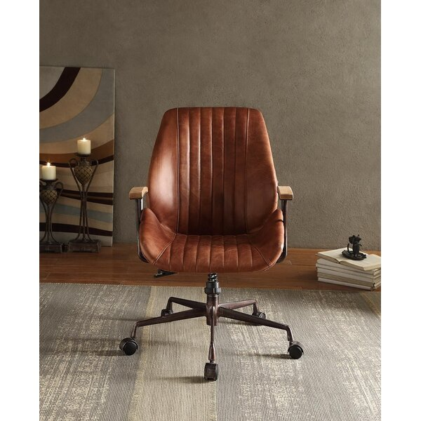 Lisk Genuine Leather Executive Chair by 17 Stories