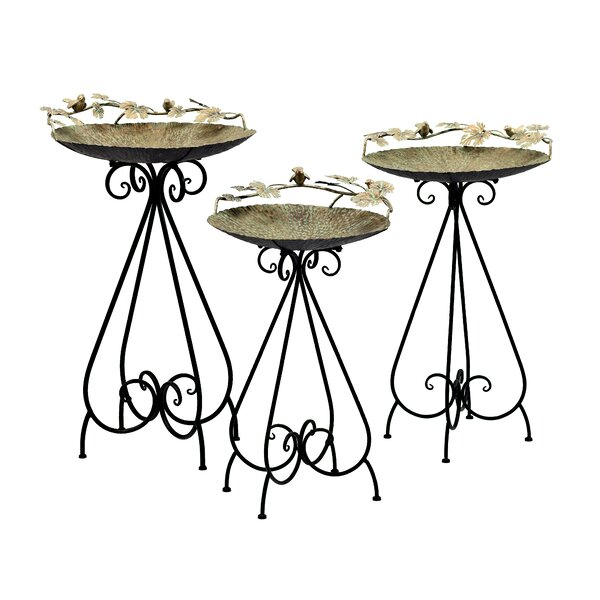 Birdbaths with Birds by Zaer Ltd International