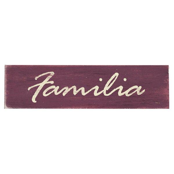 Familia Textual Art on Wood by Artehouse LLC