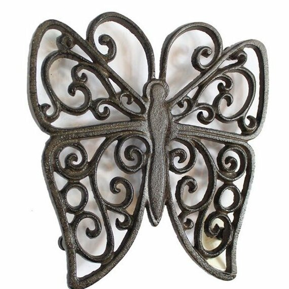 Butterfly Cast Iron Trivet by August Grove