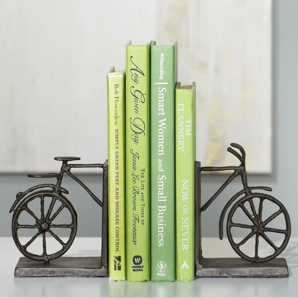 Lance Bicycle Bookend (Set of 2) by Andover Mills