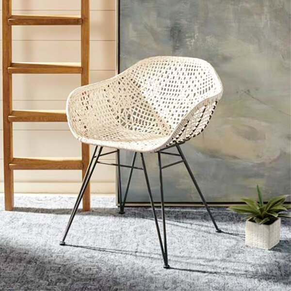 Vicky Leather Woven Dining Chair (Set of 2) by Mistana