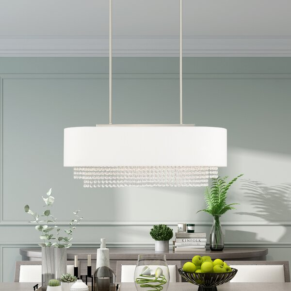 D'or 3 - Light Unique / Statement Square / Rectangle Chandelier with Crystal Accents by Willa Arlo Interiors Willa Arlo Interiors