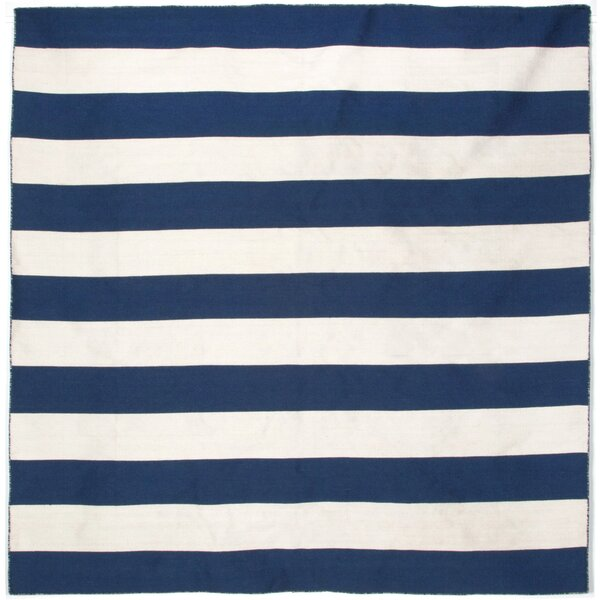 Ranier Striped Handmade Flatweave Navy