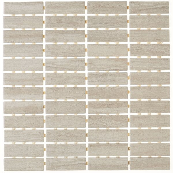 1 x 3 Ceramic Mosaic Tile in Feature Beige by Itona Tile
