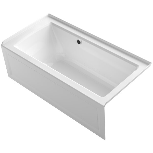 Archer Alcove BubbleMassage™ Air Bath with Integral Apron, Right-Hand Drain and Bask Heated Surface by Kohler