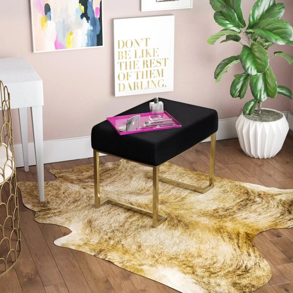 Heredia-Santoyo Furry Ottoman by Everly Quinn