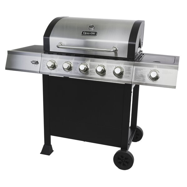 Open Cart 5-Burner Propane Gas Grill with Side Burner by Dyna-Glo