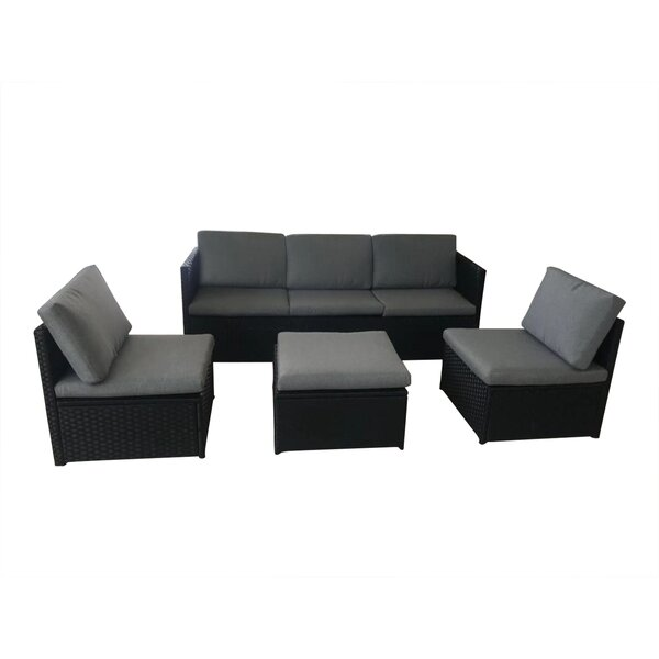 Laarous 4 Piece Sofa Seating Group with Cushions by Charlton Home