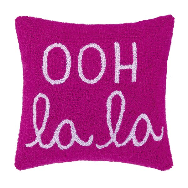 Ooh La La Square Hook Wool Throw Pillow by Peking Handicraft