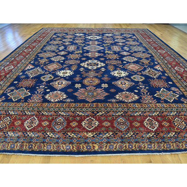 One-of-a-Kind Bechtold Handwoven Blue Wool Area Rug by Isabelline