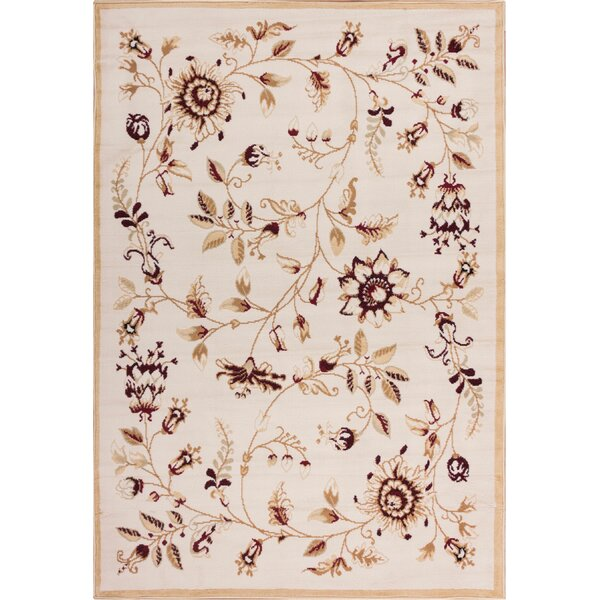 Aldenport Sunflower Fields Ivory Area Rug by Charlton Home