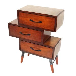 3 Drawer Nightstand by Jeco Inc.