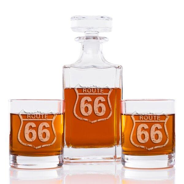 Tat Vintage Route 66 Classic Square 3 Piece Beverage Serving Set by 17 Stories