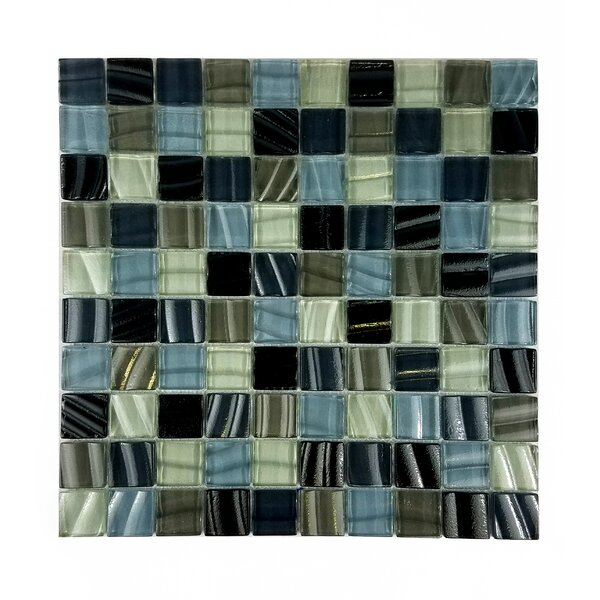 New Era 1.25 x 1.25 Glass and Slate Mosaic Tile in Brown Beach Sand by Abolos