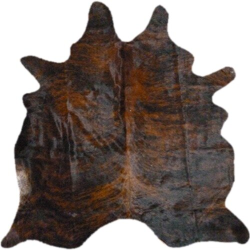 Morenci Hand Woven Cowhide Dark Brindle Area Rug by Deco Hides