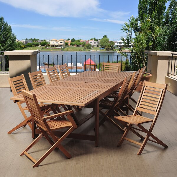Tuthill International Home Outdoor 11 Piece Dining Set by Highland Dunes