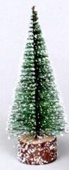 3 Green Frosted Artificial Village Christmas Tree by Vickerman