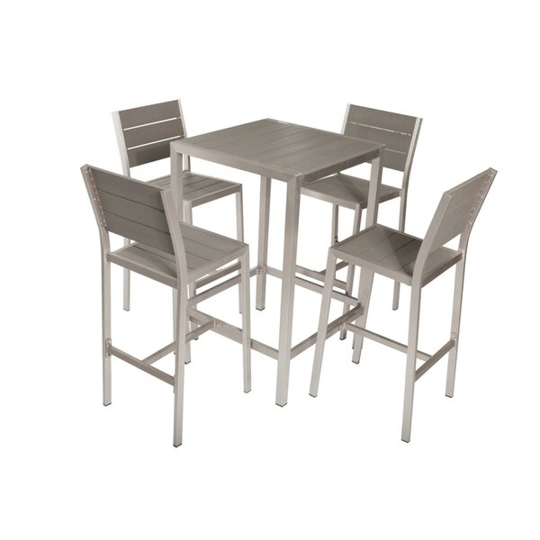 Baird Chicly Classy Anodized Aluminum 5 Piece Dining Set by Brayden Studio
