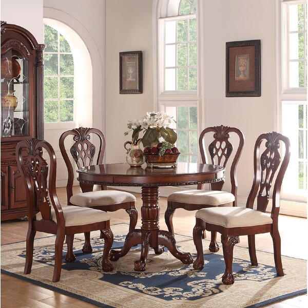 Prager 5 Piece Solid Wood Dining Set by Astoria Grand