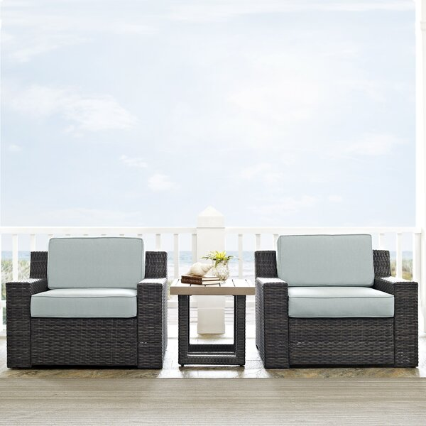 Linwood 3 Piece Seating Group with Cushions by Beachcrest Home