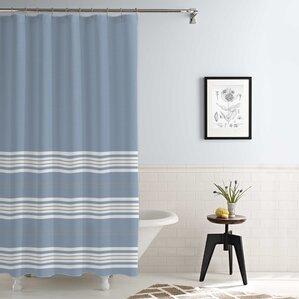 kimora waterproof printed shower curtain set wite blue shark shower curtain white