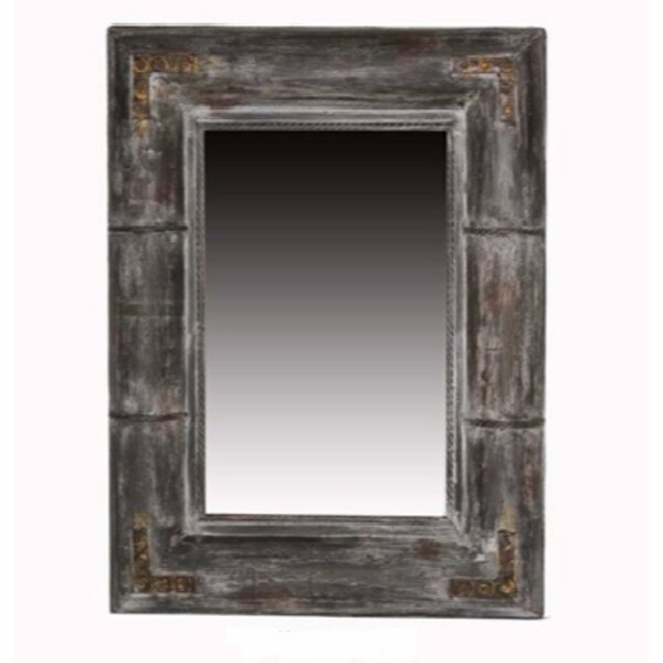 Wulfson Distressed Wooden Frame Accent Mirror by Millwood Pines