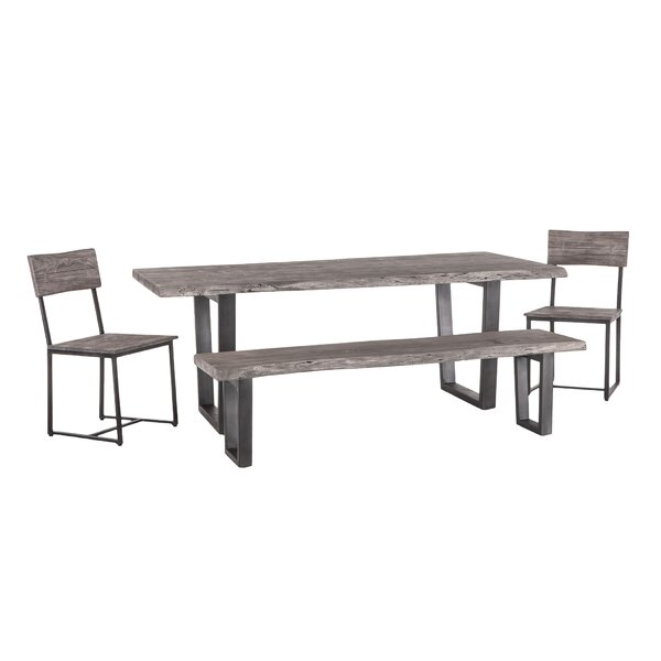 Winterville 4 Piece Solid Wood Dining Set by Foundry Select