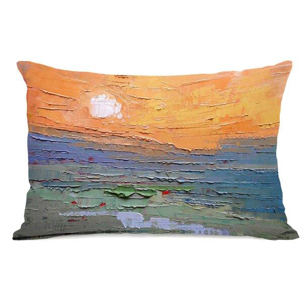 Zofia Sunset Dune Burnt Sky Lumbar Pillow by Highland Dunes